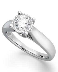 Diamond Solitaire Engagement Ring by Trumiracle in Suits