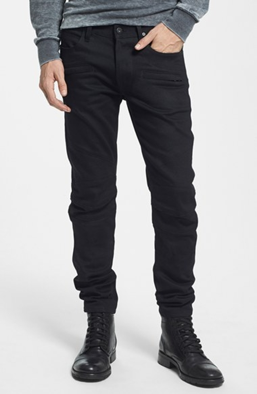 'Blinder' Skinny Fit Moto Jeans by Hudson Jeans in Fast Five