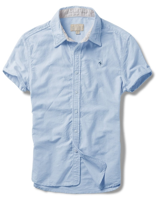 Slim Fit Short Sleeve Oxford Shirts by Match in Ant-Man
