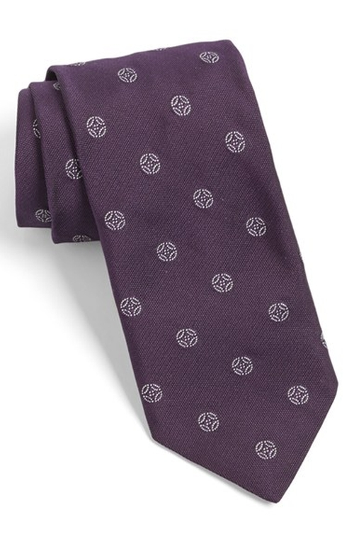 White Label Medallion Silk Tie by Todd Snyder in Pretty Little Liars - Season 6 Episode 4