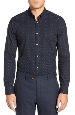 Byjove Slim Fit Long Sleeve Print Sport Shirt by Ted Baker London in Nashville