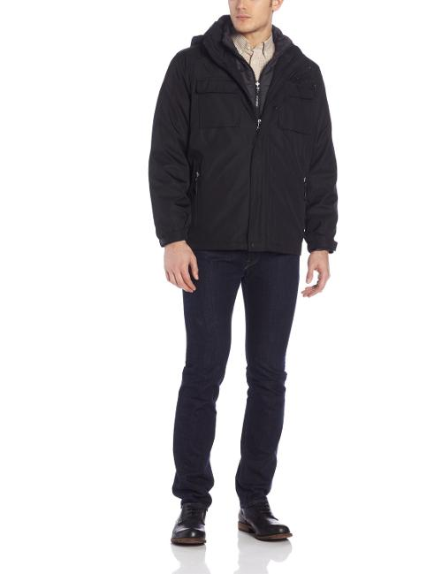 Men's Three-In-One Convertible Systems Coat by Calvin Klein in Walk of Shame