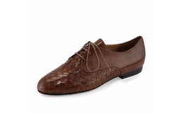 Naxos Woven Leather Oxford Shoes by Sesto Meucci in Supergirl