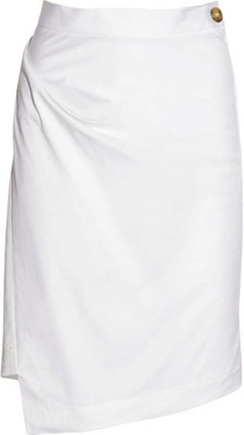Anglomania Accident Folded White Skirt by Vivienne Westwood in Confessions of a Shopaholic