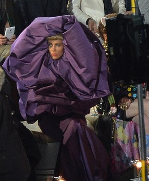 Custom Made Purple Couture Dress by Leesa Evans (Costume Designer) in Zoolander 2