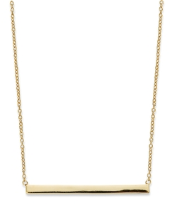 Gold Over Sterling Silver Bar Necklace by Studio Silver in Pretty Little Liars