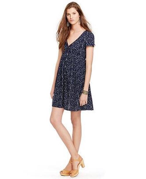 Floral-Print Button-Front Dress by Denim & Supply Ralph Lauren in Pretty Little Liars - Season 6 Episode 7