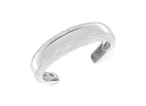 Pebble Rhodium-Plated Cuff Bracelet by Swarovski in The Second Best Exotic Marigold Hotel