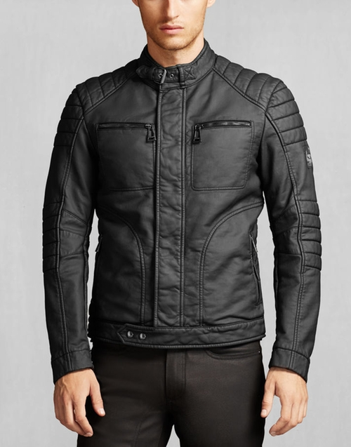Rubberised Jersey Weybridge Jacket by Belstaff in Arrow - Season 4 Episode 8