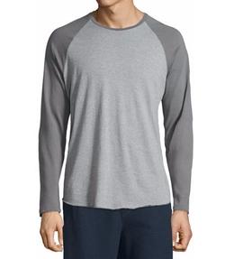 Colorblock Raglan-Sleeve Baseball Shirt by Vince in New Girl