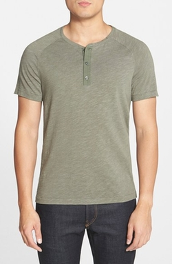 Short Sleeve Henley T-Shirt by Vince in Ballers