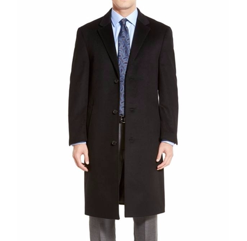 Sheffield Classic Fit Wool & Cashmere Overcoat by Hart Schaffner Marx in Suits - Season 5 Episode 16