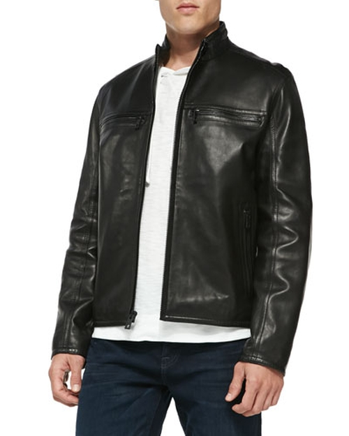 Luxe Leather Moto Jacket by Andrew Marc in The Flash - Season 2 Episode 3