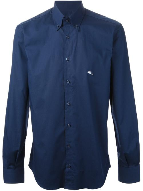 Button-Down Collar Shirt by Etro in Man of Steel