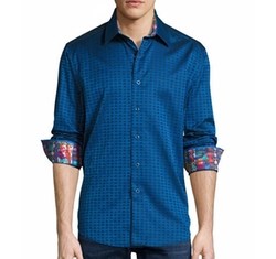 Space Jacquard Sport Shirt by Robert Graham in Unbreakable Kimmy Schmidt