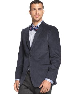Solid Trim-Fit Corduroy Sport Coat with Elbow Patches by Tommy Hilfiger in Taken 3