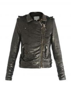 Sequined Biker Jacket by IRO in Nashville