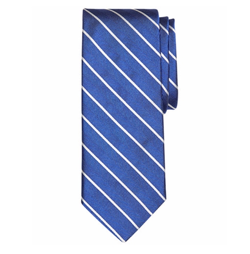 Herringbone Striped Classic Tie by Brooks Brothers in The Infiltrator