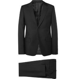 Slim-fit Black Wool and Mohair-Blend Suit by Alexander Mcqueen in Yves Saint Laurent
