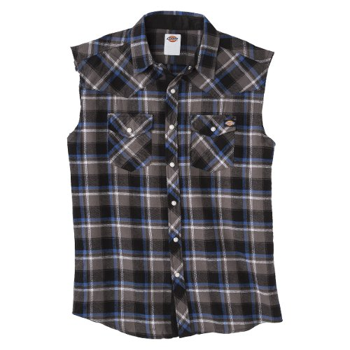 Sleeveless Western Button Down Shirt by Dickies in The Counselor