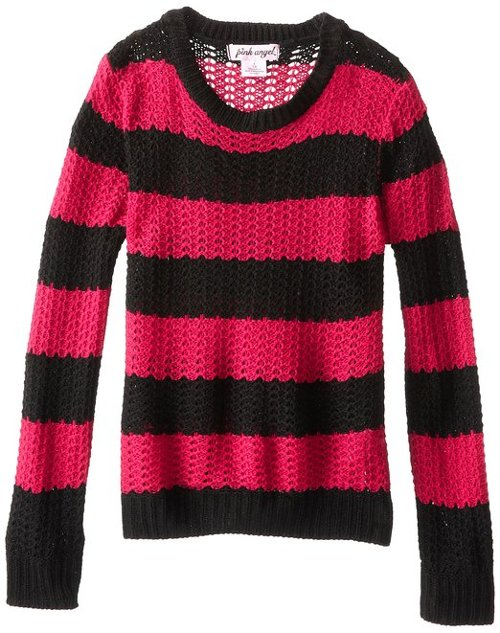 Big Girls' Striped Pullover Sweater by Pink Angel in If I Stay