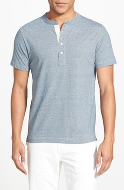 Pensacola Trim Fit Henley T-Shirt by Billy Reid in Nashville
