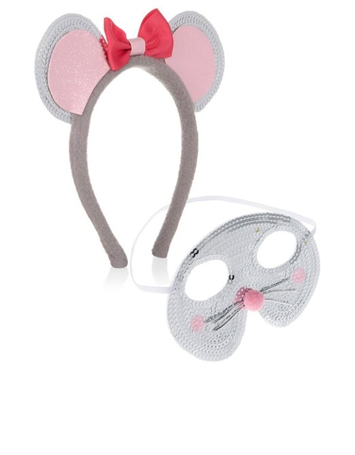 Womens Mouse Mask & Ears Set by Accessorize in Mean Girls