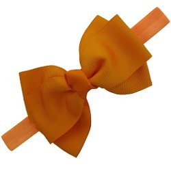 Grosgrain Fold Hair Bow Headband by QingHan in Black or White