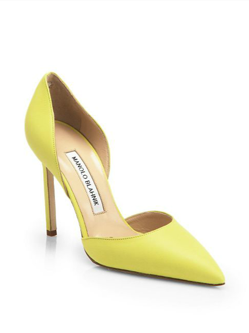 Tayler Leather d'Orsay Pumps by Manolo Blahnik in The Other Woman