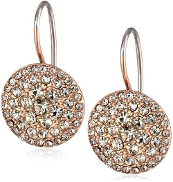 Glitz Disc Rose Gold Earrings by Fossil in The Best of Me