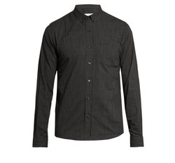 Micro-Checked Cotton Shirt by Ami in Quantico