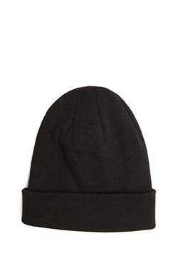 Fold-Over Knit Beanie by Forever 21 in Trainwreck
