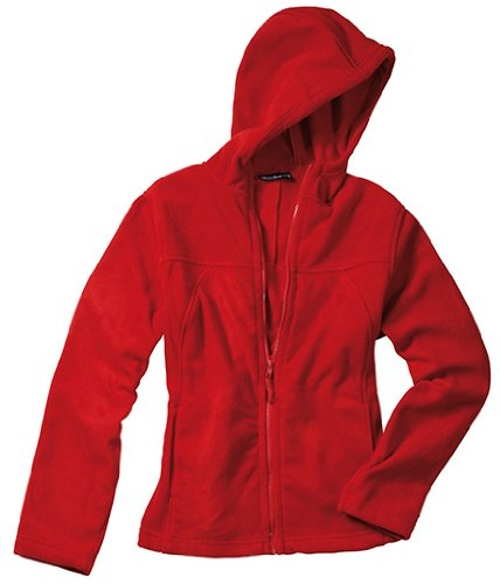 Fit Micro Fleece Hoodie Jacket by James & Nicholson in Barely Lethal