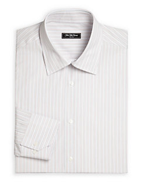Bridge Striped Cotton Dress Shirt by Saks Fifth Avenue Collection in Suits