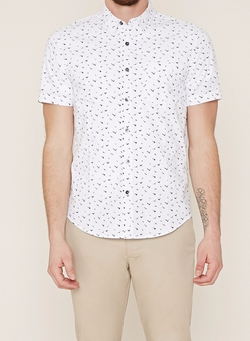Bird Print Pocket Shirt by Forever 21 in New Girl