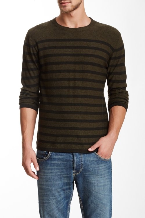 Long Sleeve Merino Wool Blend Sweater by Benson New York in Neighbors
