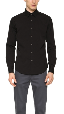 Sylvain Solid Dress Shirt by Theory in Empire