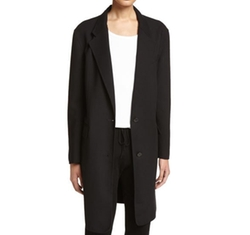 Long Tailored Wool-Blend Coat by DKNY in Atomic Blonde