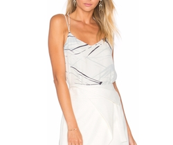 Heritage Double Strap Printed Cami Top by Halston in Modern Family