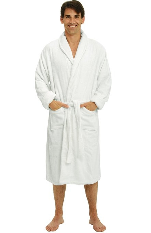 Men's Thick Terry Cloth Cotton Bathrobe by Alexander Del Rossa in She's Funny That Way