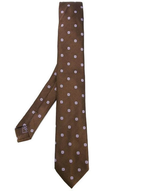 Woven Silk Tie by Brioni in Elf