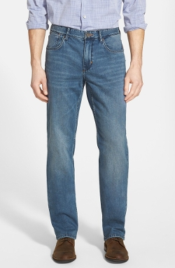 Authentic Fit Straight Leg Jeans by Tommy Bahama in Ex Machina