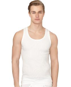 Men's Classic Ribbed Tank Undershirt by Calvin Klein in The Disappearance of Eleanor Rigby