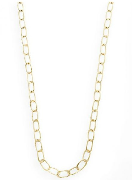 Sovereign Hammered Chain Link Necklace by Stephanie Kantis in Sex and the City