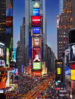 New York City, New York by One Time Square in New Year's Eve