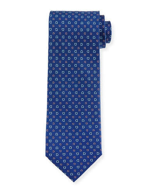 Allover Gancini-Print Woven Tie by Salvatore Ferragamo	 in The Best of Me