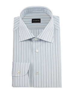 Alternating-Striped Dress Shirt by Ermenegildo Zegna in Designated Survivor