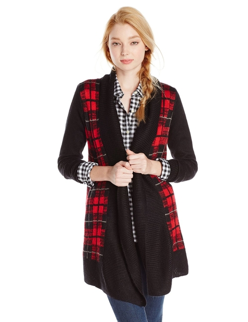 Women's Kiya Plaid Cardigan by Jack by BB Dakota in Pretty Little Liars - Season 6 Episode 6