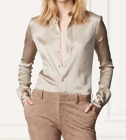 Cindy Silk Shirt by Ralph Lauren in Keeping Up With The Kardashians