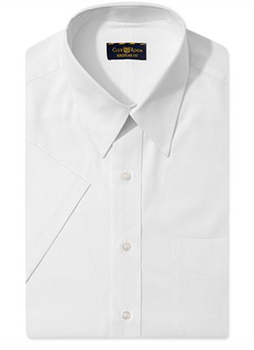 Solid Short-Sleeved Dress Shirt by Club Room in St. Vincent